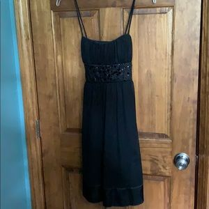 Black dress with sequin detail